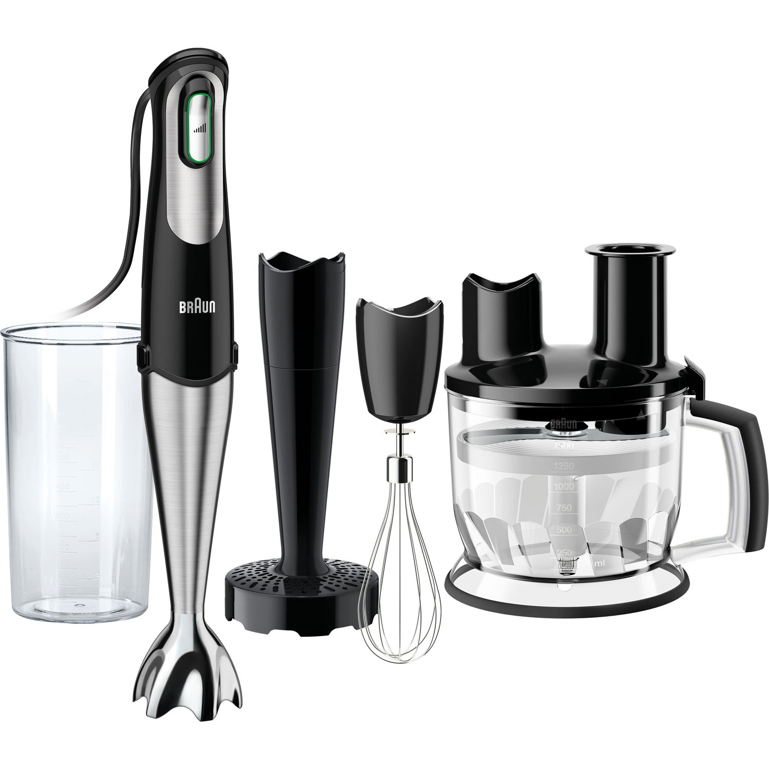 Braun MultiQuick 7 Smart-Speed Hand Blender with 6-Cup Food Processor