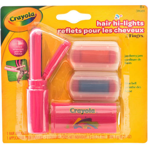 Fing'rs Crayola Hair Hi-Lights Set, 3 pc