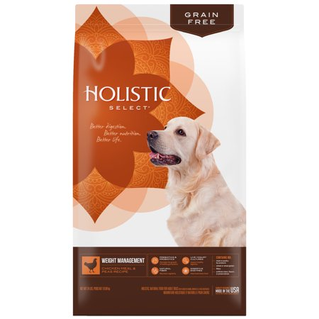 Holistic Select Chicken Meal & Peas Recipe Weight Management Adult Dry Dog Food, 24 Lb