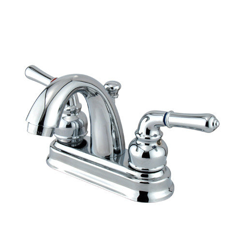 Elements of Design St. Charles Centerset Bathroom Sink Faucet with Double Lever Handles