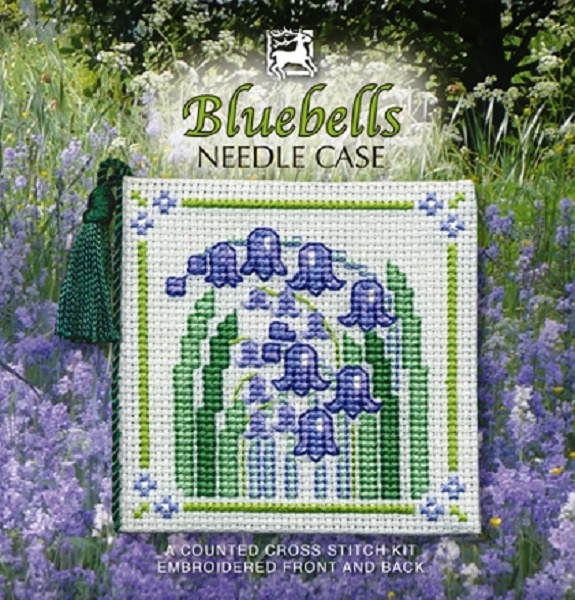 Textile Heritage Needle Case Counted Cross Stitch Kit - Bluebells