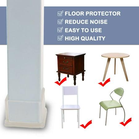"Clear Chair Leg Caps Feet Furniture Floor Protector 14pcs 1.18""x1.57"" (30x40mm) - image 3 de 7"