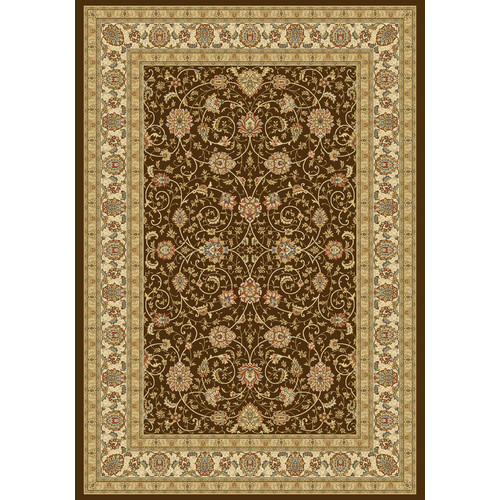 Crescent Drive Rug Company Ancient Garden Chocolate/Ivory Area Rug