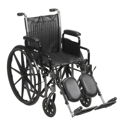 McKesson Drive Wheelchair Standard Detachable Padded Desk Arms Composite Black 20 Inch 350 lbs.