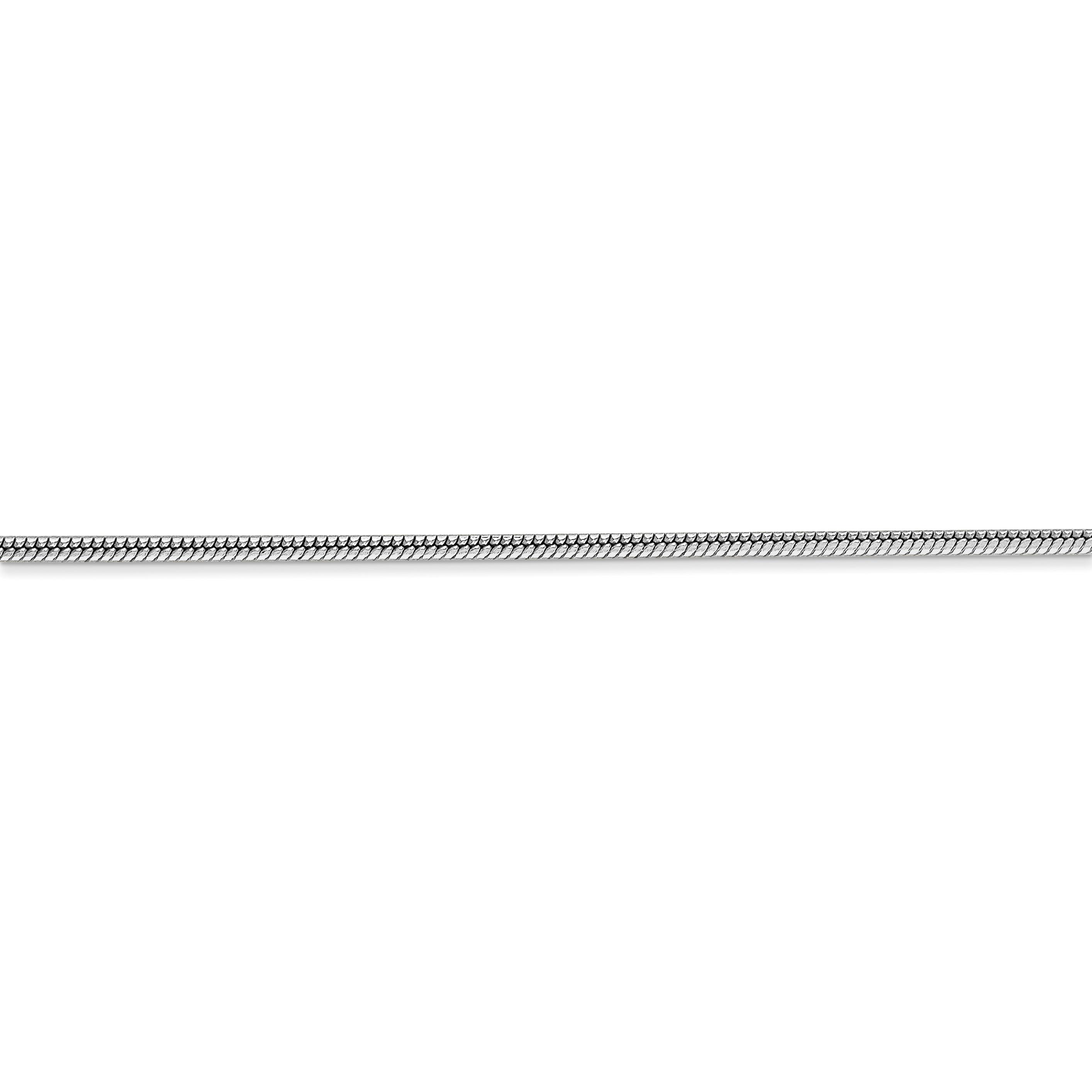 14K White Gold 1.6mm Round Snake Chain 30 Inch - image 3 de 5
