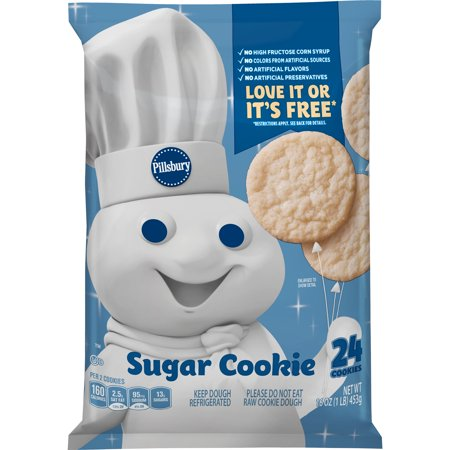 Pillsbury Ready To Bake Sugar Cookies 24 Ct 16 Oz Walmart Com