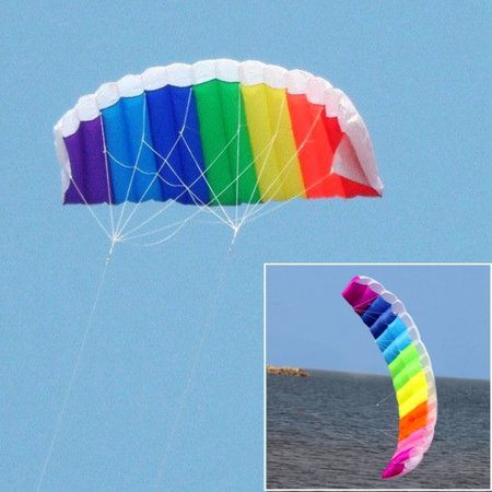 2 m Rainbow umbrella two-lane colorful software kite software sports stunt kite send fly tool