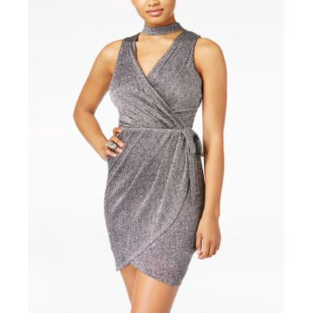 Dvf Wrap Dress - Star Wars Juniors Metallic Wrap Dress Silver S