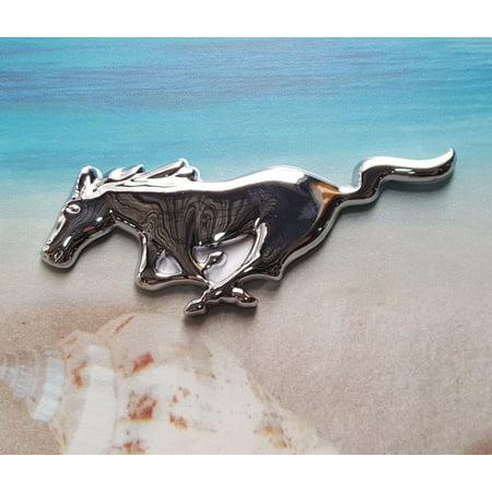 Metal Silver Running Horse Emblem Badge Door Side Sticker Decal USA Ford Mustang