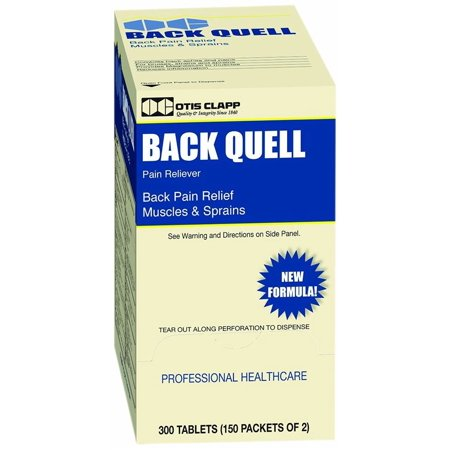 Medique/Otis Clapp Back Quell Pain Relief Coated Tablets, 150-Packets-Box of