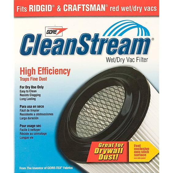 Shop Vac 903-61-00 CleanStream® High Efficiency Wet & Dry Vac Cartridge Filter