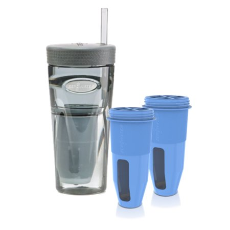 zero water 26 ounce portable tumbler bottle 2 replacement filters combo. Black Bedroom Furniture Sets. Home Design Ideas