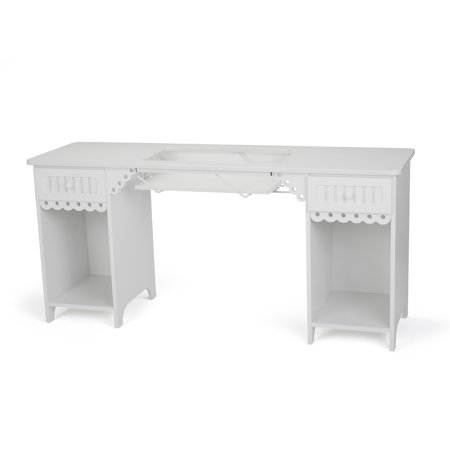 Arrow Olivia Sewing and Craft Table with Storage and Lift, 3 Finishes (Arrow Air Lift Sewing)