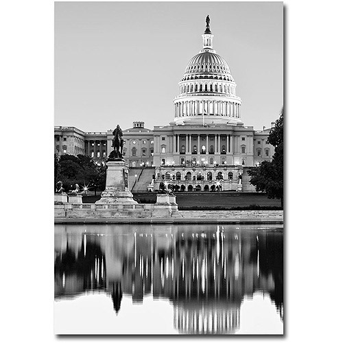 "Trademark Art ""Capitol Reflections II"" Canvas Wall Art by Gregory O'Hanlon"