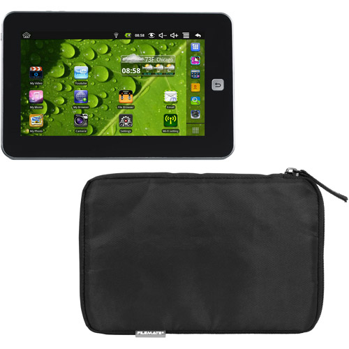 """Maylong M-250 with WiFi 7.0"""" Touchscreen Tablet PC Featuring Android 2.2 (Froyo) Operating System with FileMate Tablet Sleeve, Black"""