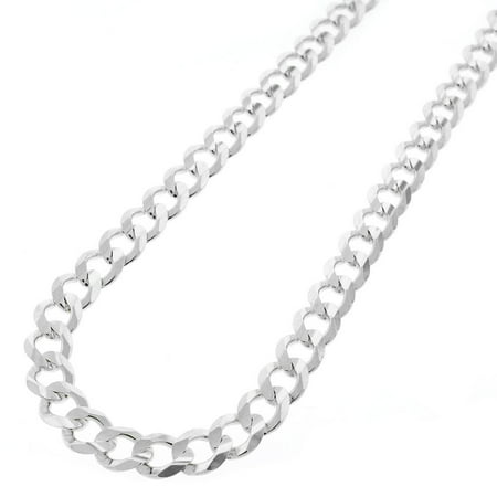 Sterling Silver Italian 7mm Cuban Curb Link ITProlux Solid 925 Necklace Chain 20