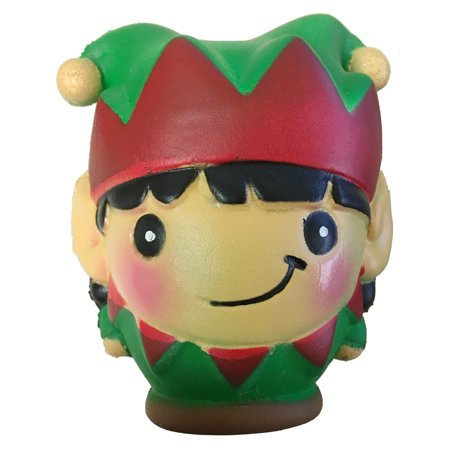 Christmas Winter North Pole Elf With Black Hair Squishie Toy Party - Party City Elk River