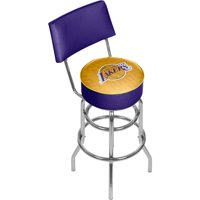 NBA Swivel Bar Stool with Back - City - Los Angeles Lakers