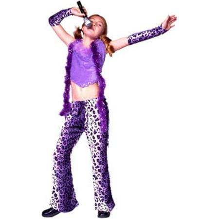 Child Leopard Rock Star Girl - Rock Star Costume Girl