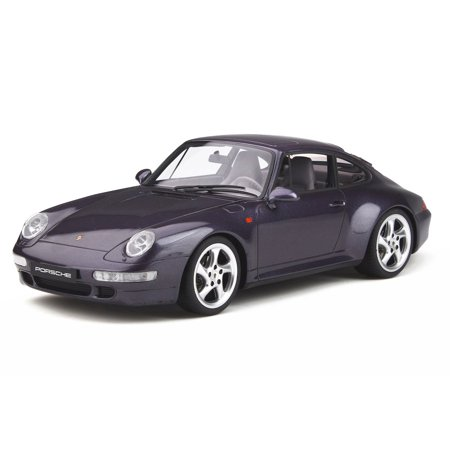 Porsche 911 (993) Carrera S Split Grill Vesuvio Purple Metallic 1/18 Model Car by GT Spirit
