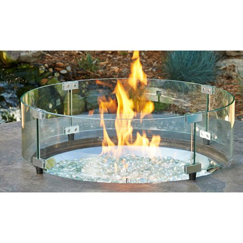Outdoor GreatRoom GLASS GUARD-30-R 30 Round Glass Guard for Fire Pits