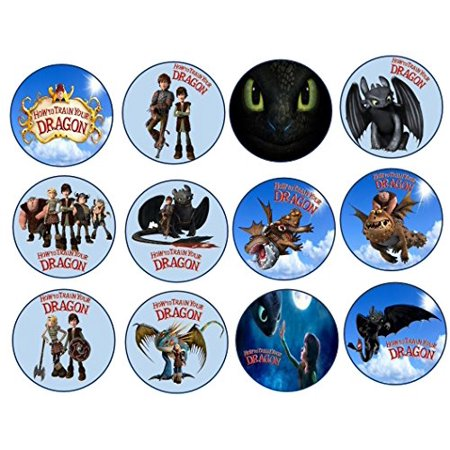 12 How to train your Dragon Image Sheets Cupcake and Cookie Toppers (Prem Frosting) - Frosting Cupcakes For Halloween
