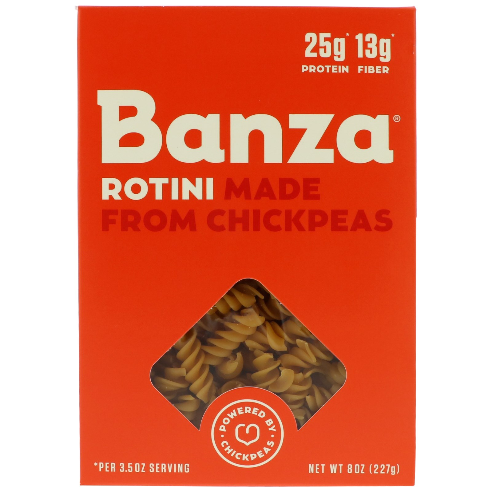 Banza, Rotini, Made From Chickpeas, 8 oz (pack of 4)