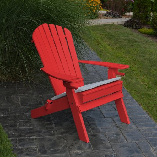 A Furniture Adirondack Chair with Cup Holder