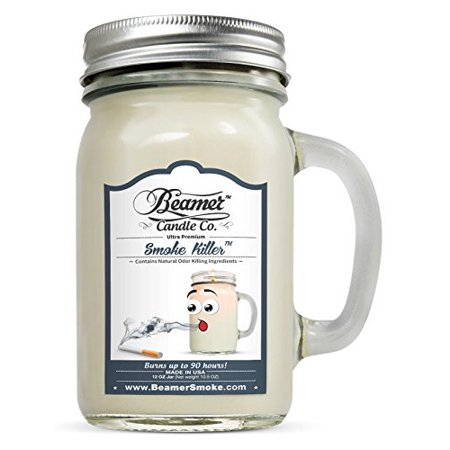 Best Smoke Killer Scented Ultra Premium Jar Candle 90 Hr Burn Time by