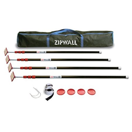 Zipwall Dust Barrier (ZipWall ZipPole 10' 4Pack SpringLoaded Poles for Dust Barriers,)