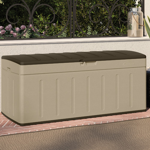 Suncast Blow Molded 99 Gallon Resin Deck Box by Suncast