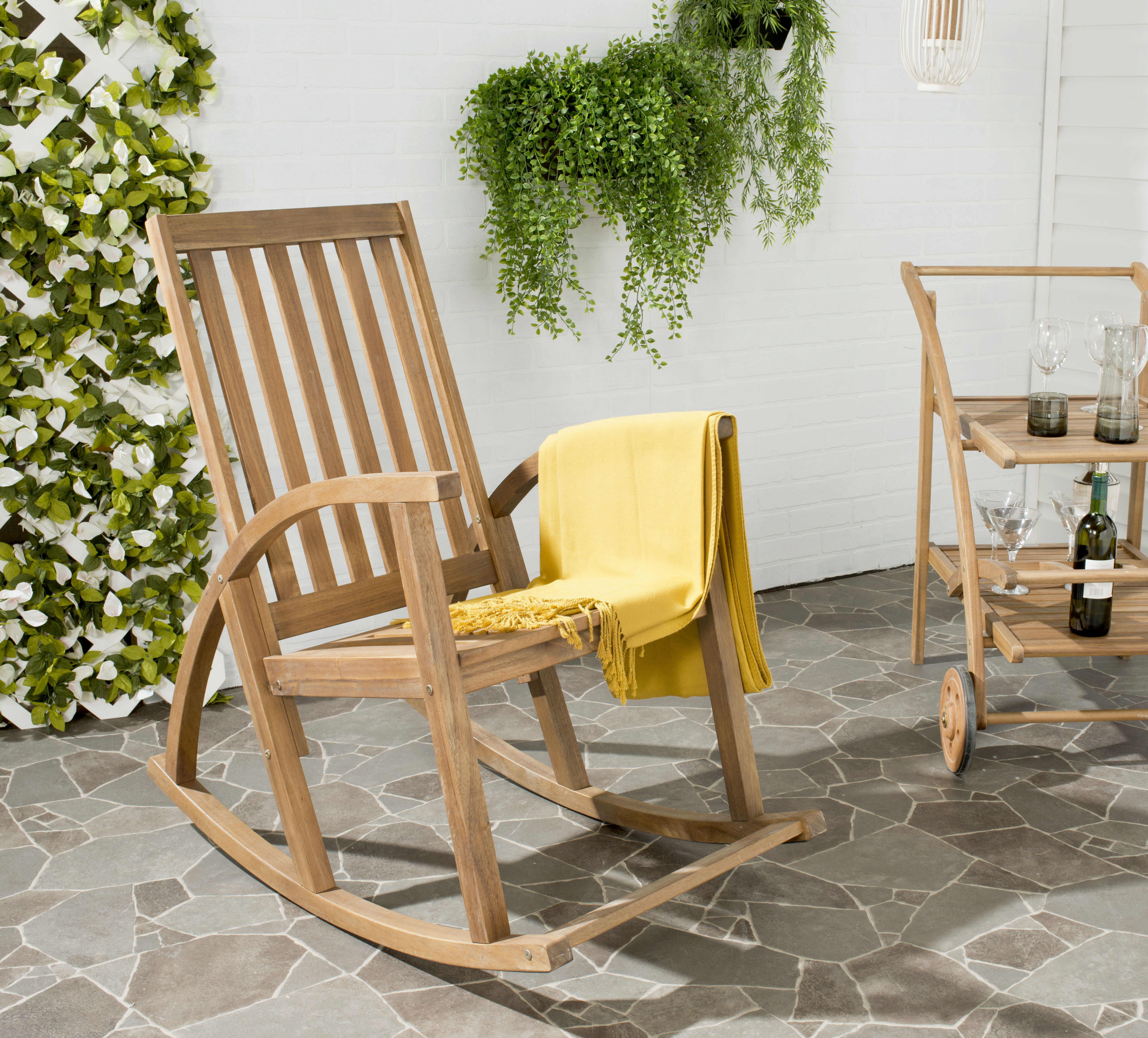 Safavieh Clayton Indoor/Outdoor Traditional Rocking Chair