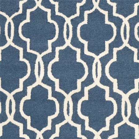 """Safavieh Cambridge 2'6"""" X 4' Hand Tufted Wool Rug in Navy and Ivory - image 1 de 3"""