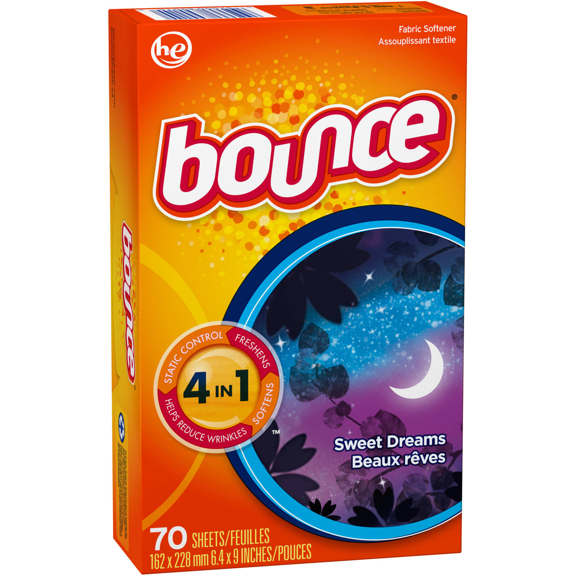 Bounce Sweet Dreams Fabric Softener Dryer Sheets, 70 sheets