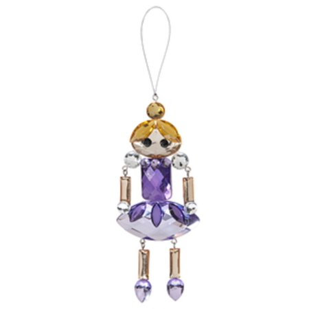 Crystal Expressions Classic Holiday Ornament: Purple Dress Princess - By -