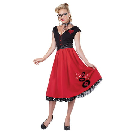 Womens 50's Rock And Roll Sweetheart Halloween Costume](Rock City Halloween)