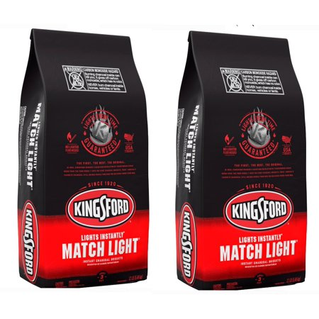 (2 pack) Kingsford Match Light Instant Charcoal Briquettes, BBQ Charcoal for Grilling - 12 Pounds