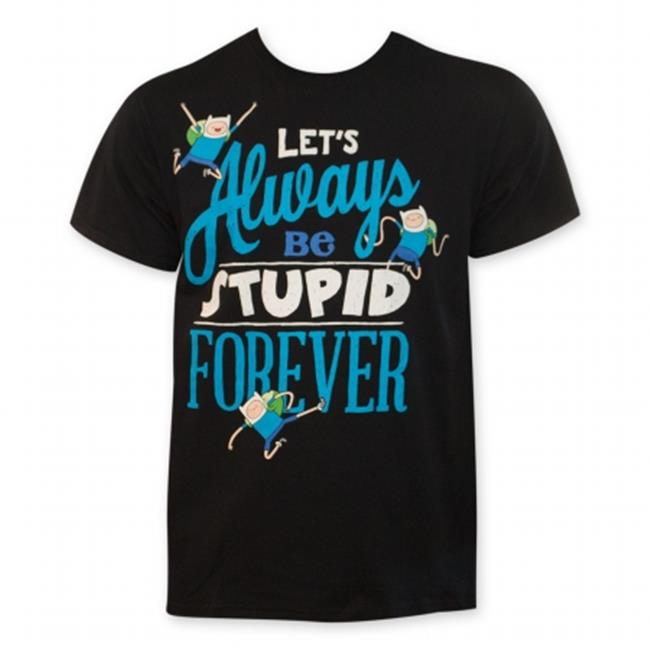 Adventure Time 24709M Lets Always Be Stupid Forever T-Shirt, Medium