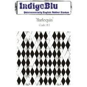 """IndigoBlu Cling Mounted Stamp 4""""X4""""-Harlequin"""