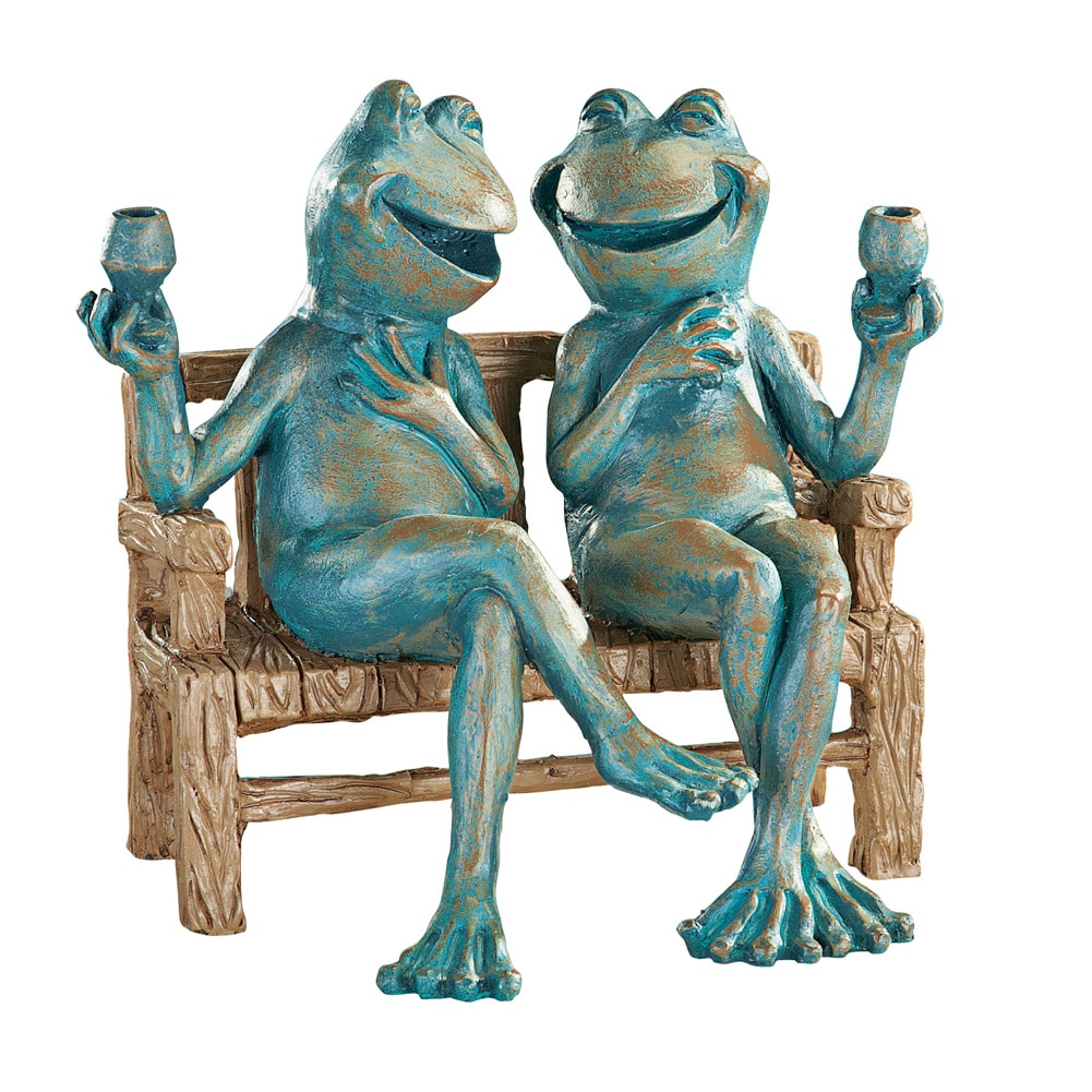 Happy Hour Frogs Garden Statue