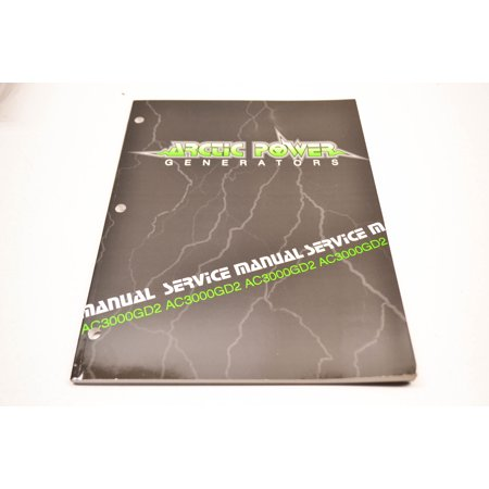 Car Service Manual - Arctic Cat 2255-801 AC3000GD2 Generator Service Manual QTY 1