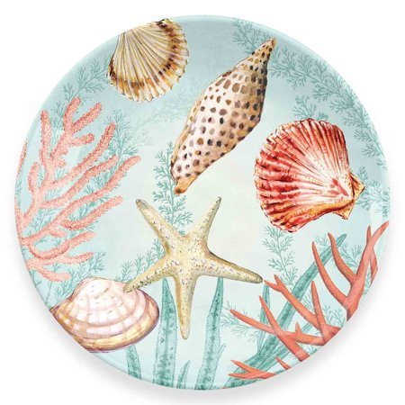 Coral Reef Salad Plate, 6 Accent Plates