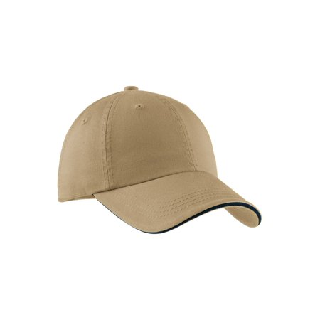 Sandwich Bill Cap (Top Headwear Sandwich Bill Cap w/ Striped Closure )