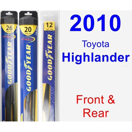 2010 Toyota Highlander Wiper Blade Set/Kit (Front & Rear) (3 Blades) - Rear