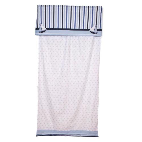 "Bacati - Little Sailor Curtain Panel 42""x84"" 100% Cotton percale fabrics"