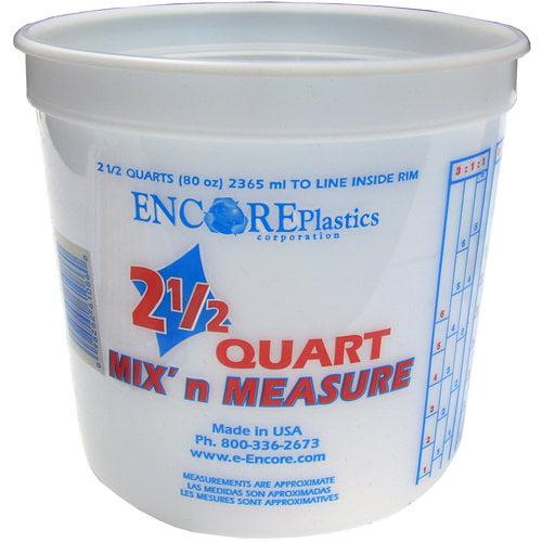 Encore Plastics 2.5-Qt Mix 'n Measure