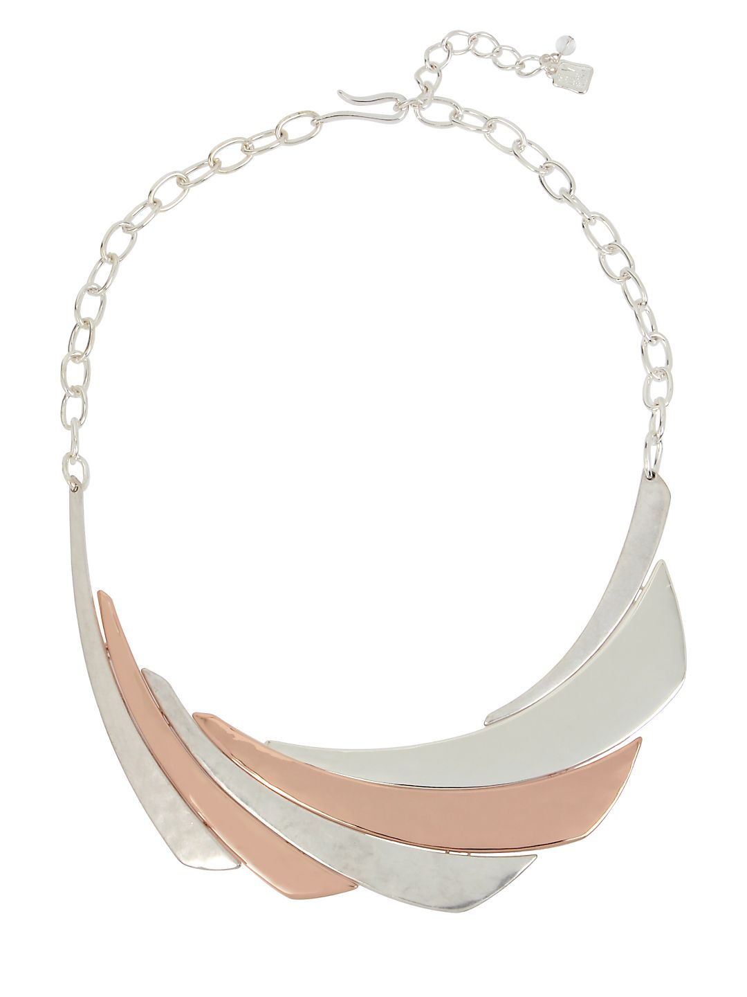 Hint of Rose Two-Tone Frontal Necklace