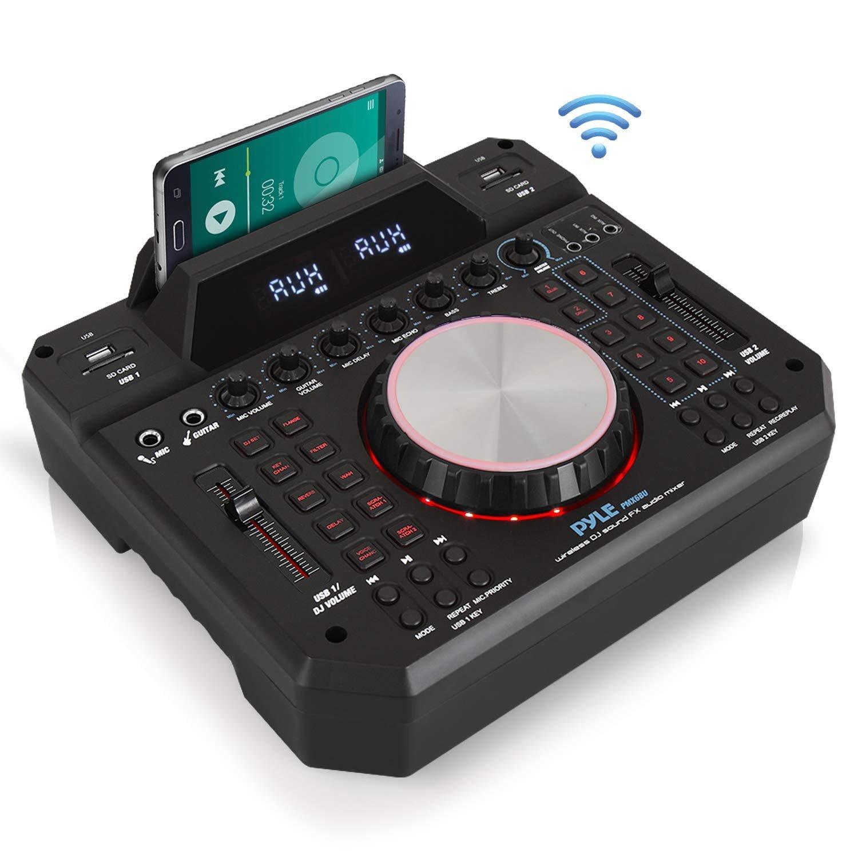 Pyle PMX6BU Wireless DJ Sound FX Bluetooth Stage & Studio Mixer System  Karaoke Style Mic-Talkover, MP3/USB/SD Readers, FM Radio