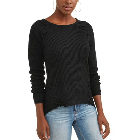 Women's Lattice Detail Sweater (Mugatu Sweater)