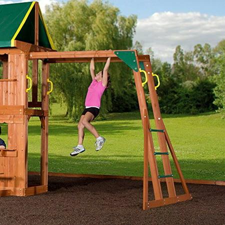 Backyard Discovery Prairie Ridge All Cedar Wood Playset Swing Set - Wood backyard playsets
